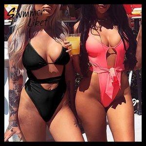Swim - BNWT- SEXY Black/Pink  1 Piece Swimsuit